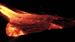 Stock Video Footage of Hawaii Lava Flows at night 4