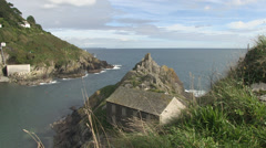 Polperro in cornwall Stock Footage