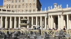 Stock Video Footage of Restoration work on St Peters in Rome 1