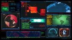 Technology Interface Computer Data Screen GUI 4444 Stock Footage