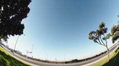 Southwest Jet Landing at LAX - stock footage
