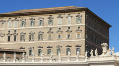 The Pope's apartments at the Vatican Stock Footage