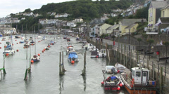 east looe river in cornwall Stock Footage
