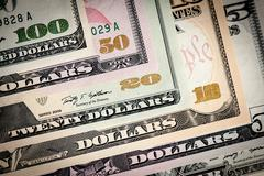 united states dollars closeup. - stock photo
