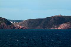 Shoreline of approach to st. johns harbor. Stock Photos