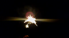 Play holiday fireworks. Stock Footage