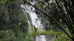 Bamboo waterfall Stock Footage