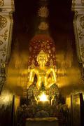 buddha image at wat pa dara phirom, chiang mai thailand - stock photo