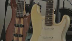 Guitars and drums Stock Footage