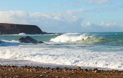 .west coast of fuerteventura - stock photo
