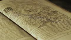 Ancient open book Stock Footage