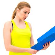 Stock Photo of beautiful woman with a folder