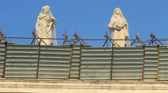 Stock Video Footage of Restoration work on St Peters in Rome 13