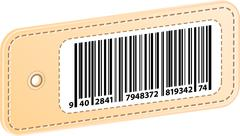 3D Price Tag With Bar Code Label Stock Illustration