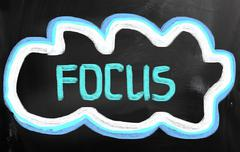 Stock Illustration of focus concept