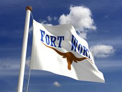 fort worth city flag - stock illustration