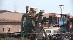Steelworks. Acciaierie di Sicilia Spa Stock Footage