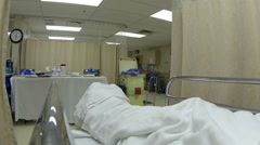 Hospital recovery bed after surgery nurse POV HD 0176 Stock Footage