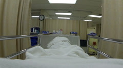Stock Video Footage of Hospital recovery bed breathing emergency room HD 0173