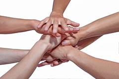 hand collection - stock photo