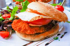 Stock Photo of chicken burger
