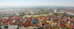 Panoramic view from ulm munster church, germany Stock Photos