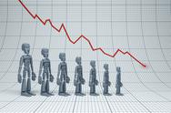 Stock Illustration of negative trend