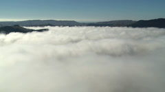 Fog clears from valley. Stock Footage