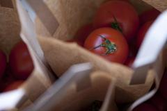 Tomatoes in bag - stock photo