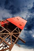 Mine shaft tower Stock Photos