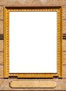 brick  frame - stock photo