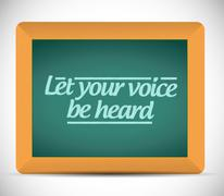 Let your voice be heard message illustration Stock Illustration