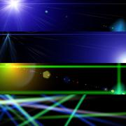 cosmos lights banners - stock illustration