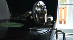 Old vinyl disc 2 Stock Footage