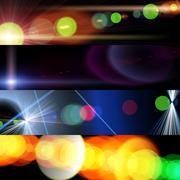 cosmos lights - stock illustration