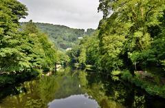 River Derwent at Matlock Bath - stock photo