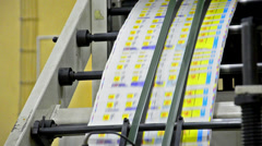 Printing house. - stock video Stock Footage