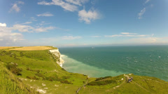 White Cliffs - Dover, England Stock Footage