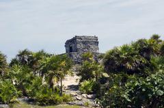 Ruins and beaches of tulum Stock Photos