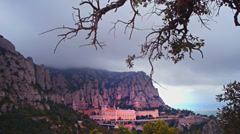 Montserrat Monastery mountains Stock Footage