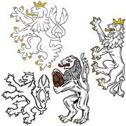 Heraldic Lion Stock Illustration
