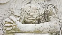statue of an angel praying close up - stock illustration