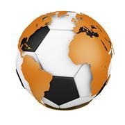 World soccer Stock Illustration