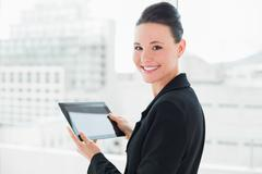 Close up of an elegant businesswoman with tablet PC Stock Photos