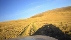 Suv tour through the russian mountain plateau Stock Footage