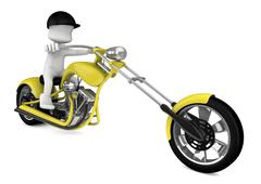 3d motorcycle - stock illustration