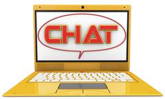 3d chat Stock Illustration