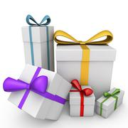 3d gifts Stock Illustration