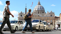 St Peters, guided tourists & taxis - stock footage