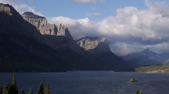 Saint Mary Lake in Glacier National Park Clouds Time Lapse Stock Footage